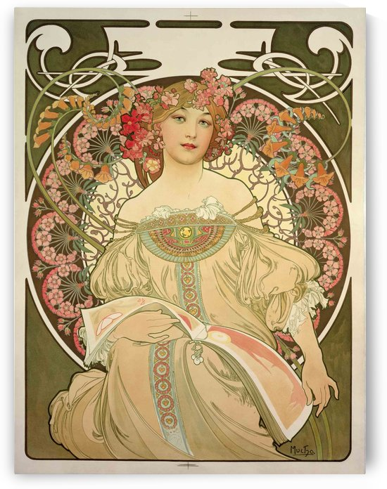 Champagne Printer Publisher 1897 by Alphonse Mucha