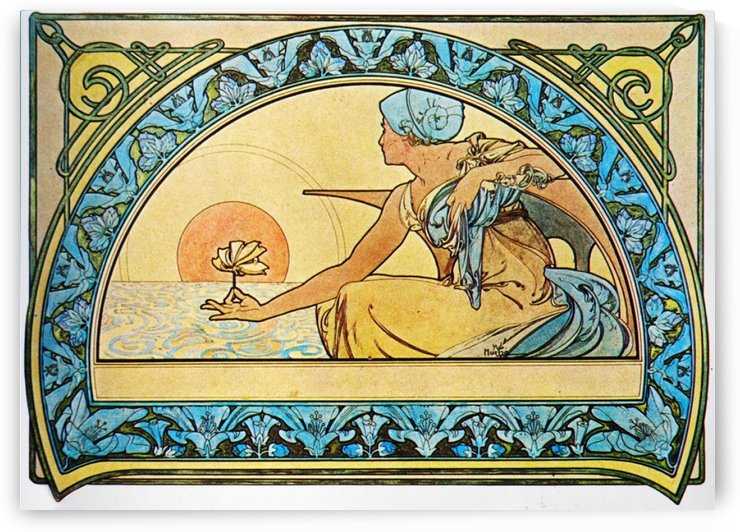 Water Lily by Alphonse Mucha