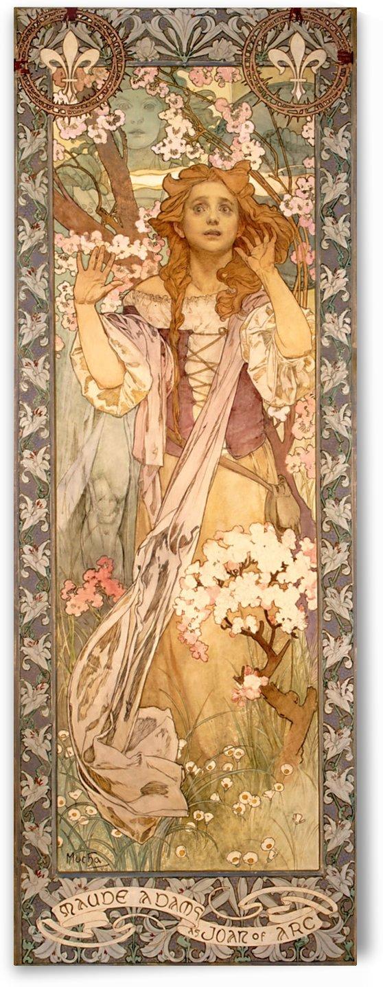 Maude Adams as Joan of Arc by Alphonse Mucha