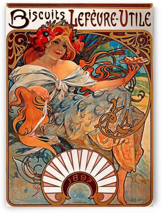 Biscuits Lefevre Utile, 1896 by Alphonse Mucha