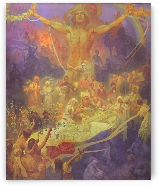 Apotheosis of the Slavs history by Alphonse Mucha