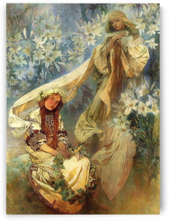 1905 Madonna of the Lilies by Alphonse Mucha