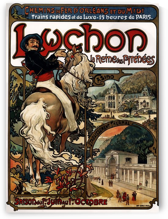 Luchon, 1895 by Alphonse Mucha