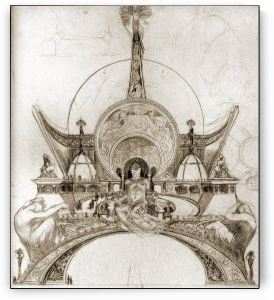 The golden age by Alphonse Mucha
