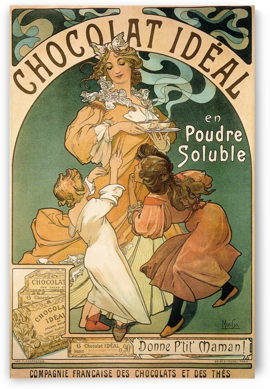 1897 Poster for Chocolat Ideal by Alphonse Mucha