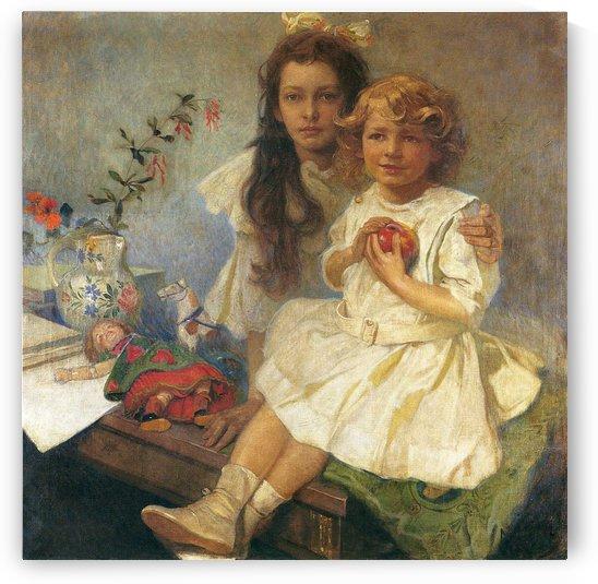 Jaroslava and Jiri by Alphonse Mucha