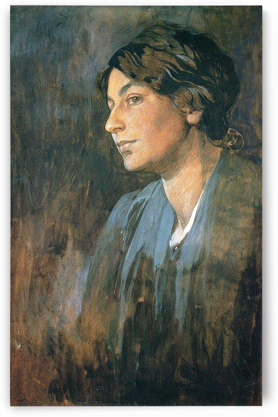 Portrait of Marushka, artist wife by Alphonse Mucha