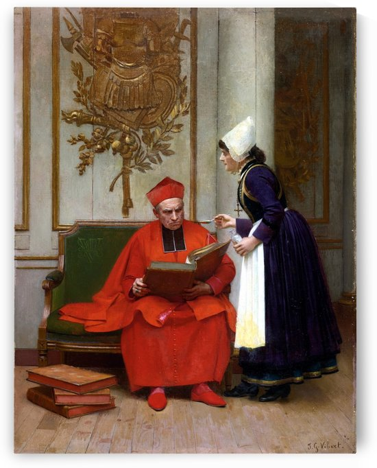 The cardinal and the fortune teller by Jehan Georges Vibert