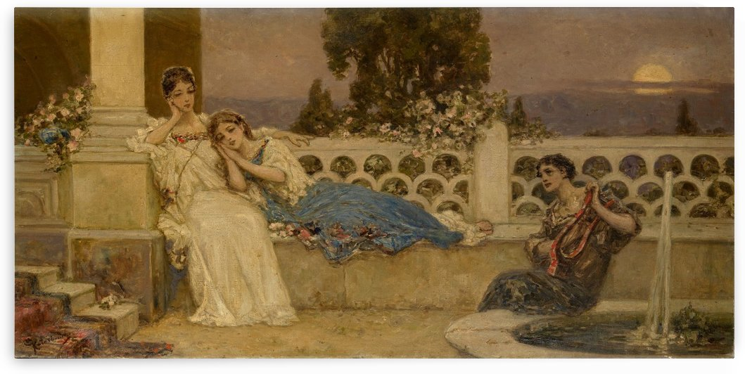 The Serenade by Jehan Georges Vibert