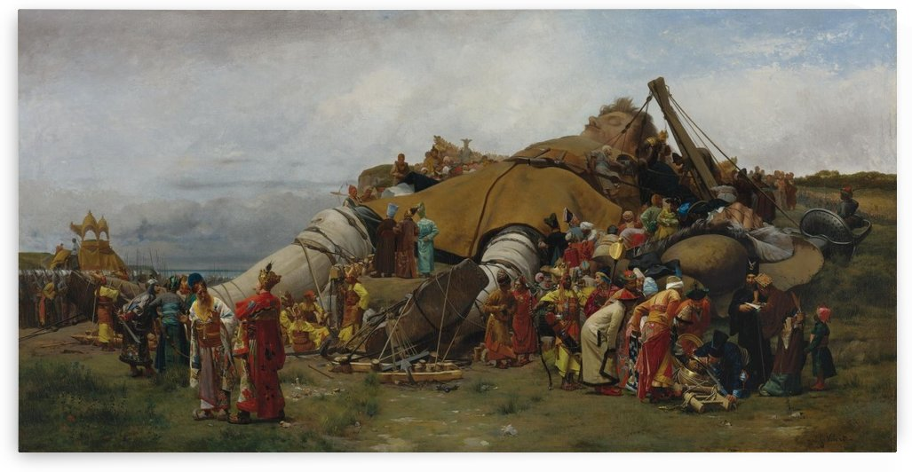 Gulliver and the Liliputans by Jehan Georges Vibert