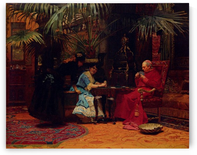 The Church In Danger by Jehan Georges Vibert