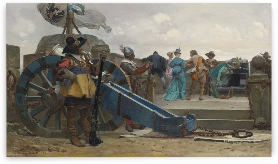 On the ramparts by Jehan Georges Vibert