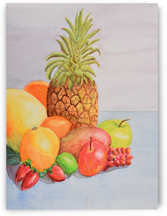 Fruit on Table by Linda Brody