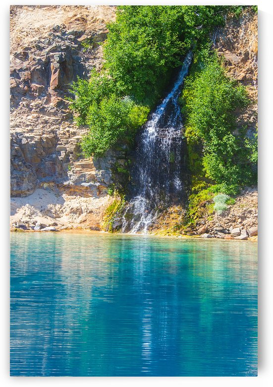 Crater Lake Waterfall by John Foster