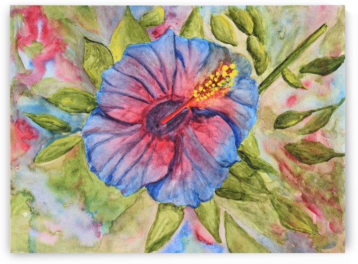 Single Hibiscus by Linda Brody