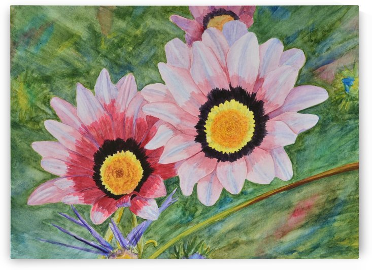 Two Daisies by Linda Brody