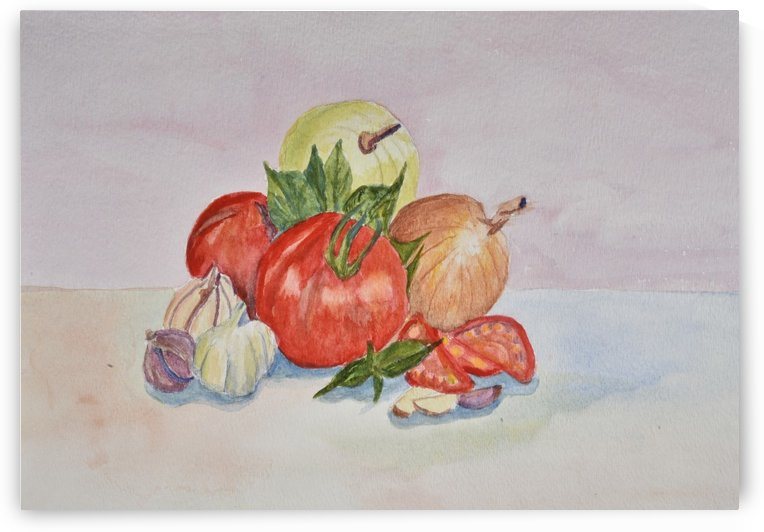 Tomatoes and Onions by Linda Brody