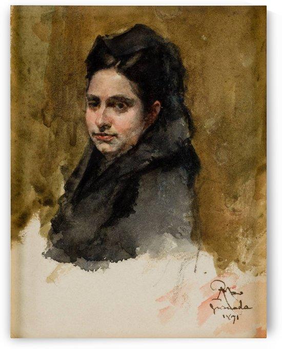 A young Oriental woman by Ricardo de Madrazo y Garreta