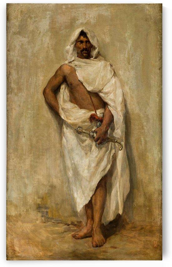 An Oriental man with a sword by Ricardo de Madrazo y Garreta