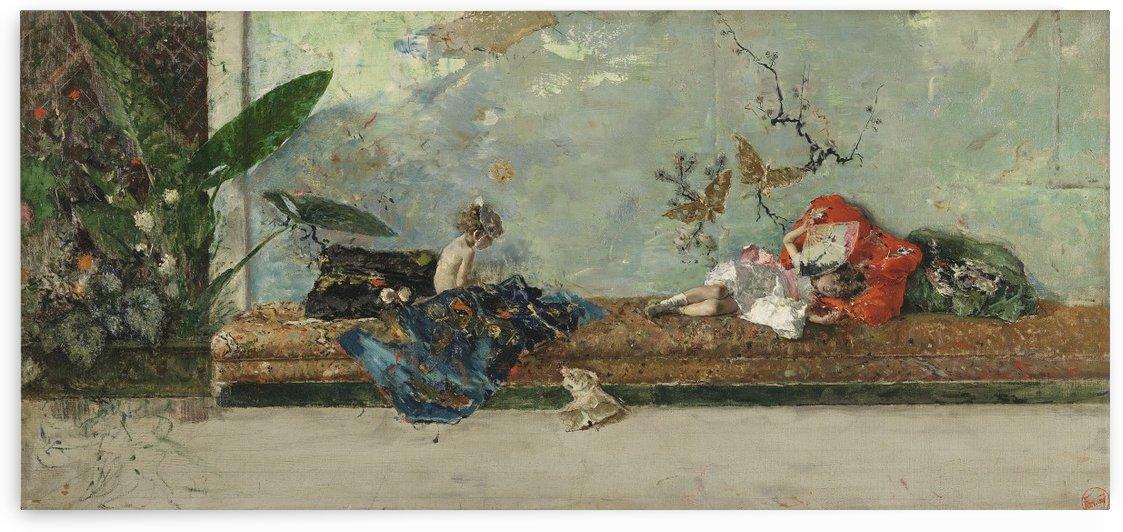 Los hijos del pintor en el salc by Ricardo de Madrazo y Garreta