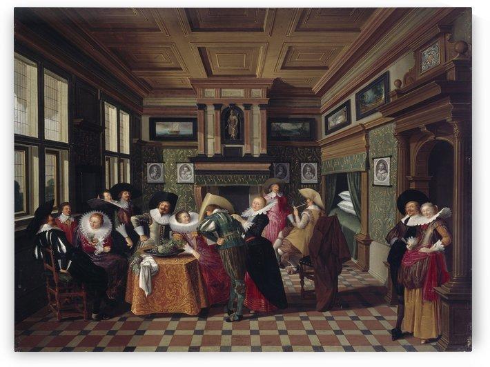 Ladies and Cavalier, 1629 by Dirck van Delen