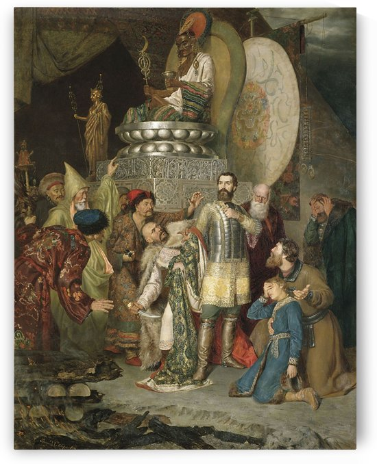 Prince Michael of Chernigov Raiding Baku by Vasily Sergeyevich Smirnov