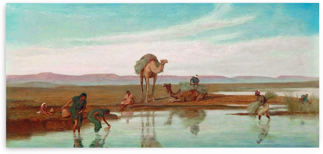 Cutting Rushes by the Nile by Frederick Goodall