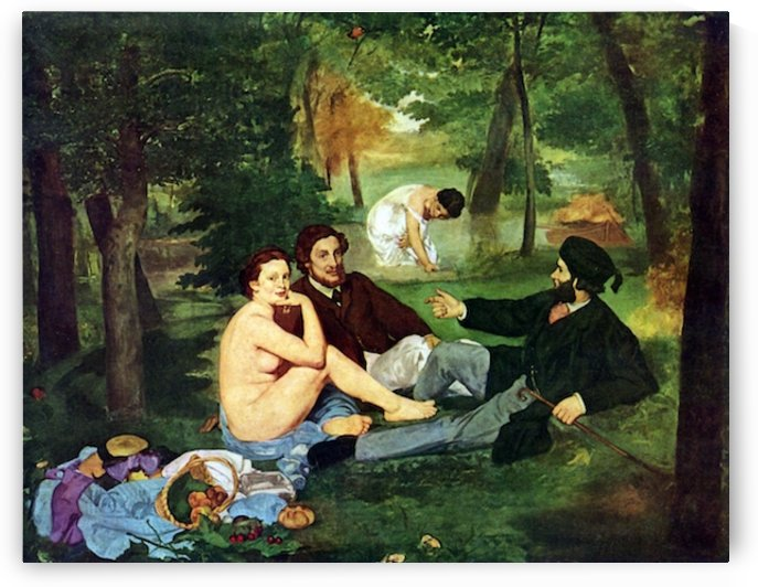 Luncheon on The Grass 1863 by Manet by Manet