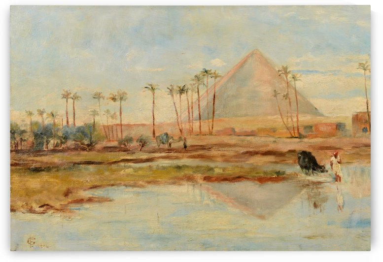 View of a pyramid by Frederick Goodall