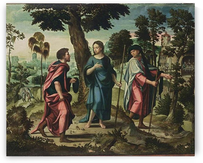 Christ and His Disciples on Their Way to Emmaus by Pieter Coecke van Aelst