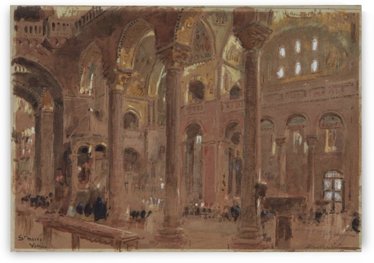 Inside a cathedral by Albert Goodwin