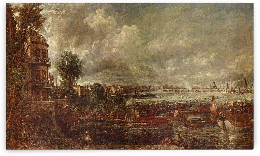 Landscape of a city by Albert Goodwin