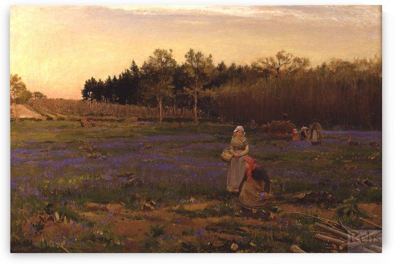 Picking Bluebells by Albert Goodwin