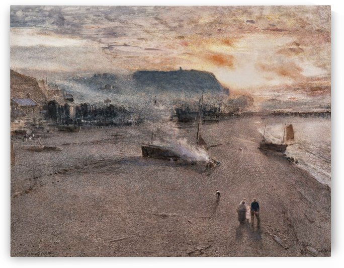 Sailors by the sea by Albert Goodwin