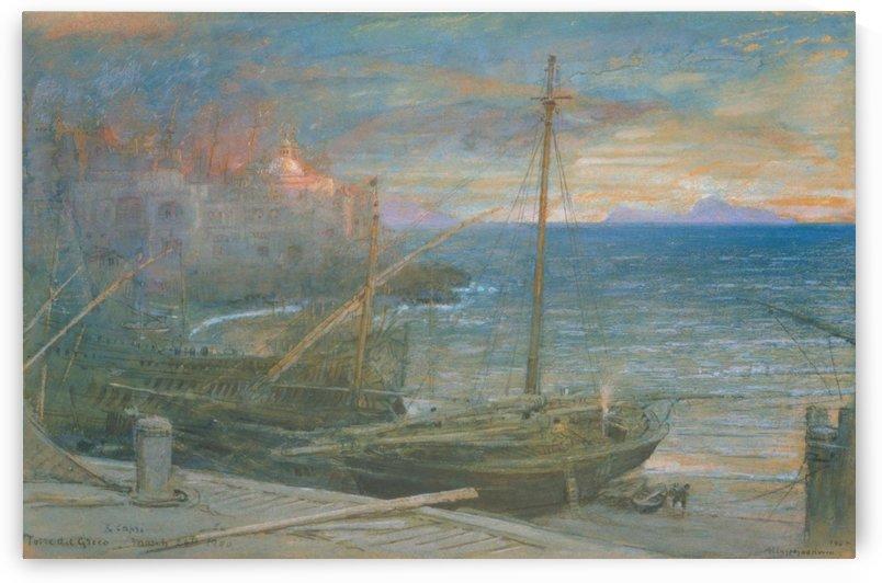 Torre del Greco and Capri by Albert Goodwin