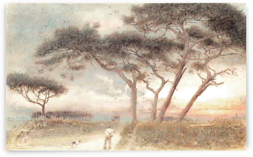 Man Goeth Forth to His Labour Until the Evening by Albert Goodwin