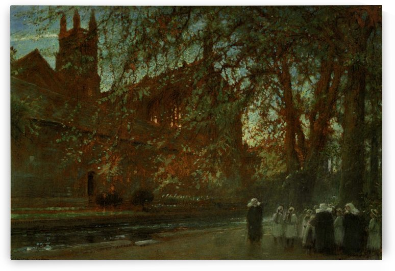 Cloister Garden, Winchester Cathedral by Albert Goodwin