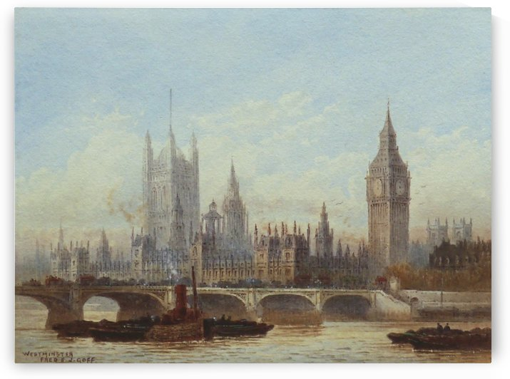 The Thames at Battersea by Edward Angelo Goodall