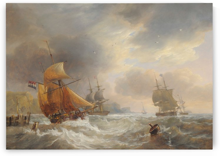 A stormy day of the sea by John Wilson Carmichael