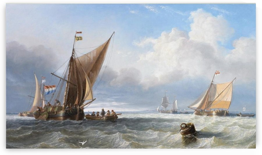 Off the Dutch Coast by John Wilson Carmichael