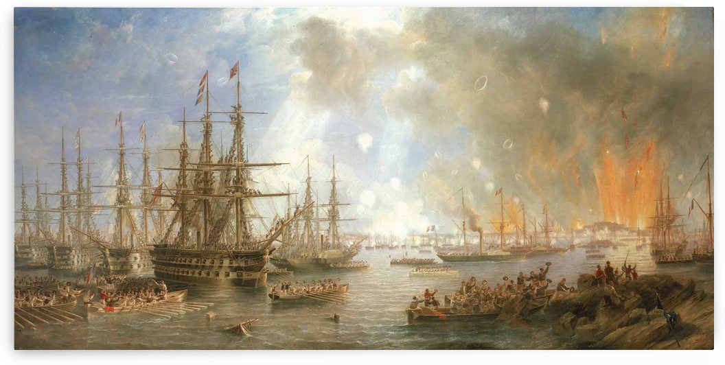 The Bombardment of Sveaborg by John Wilson Carmichael