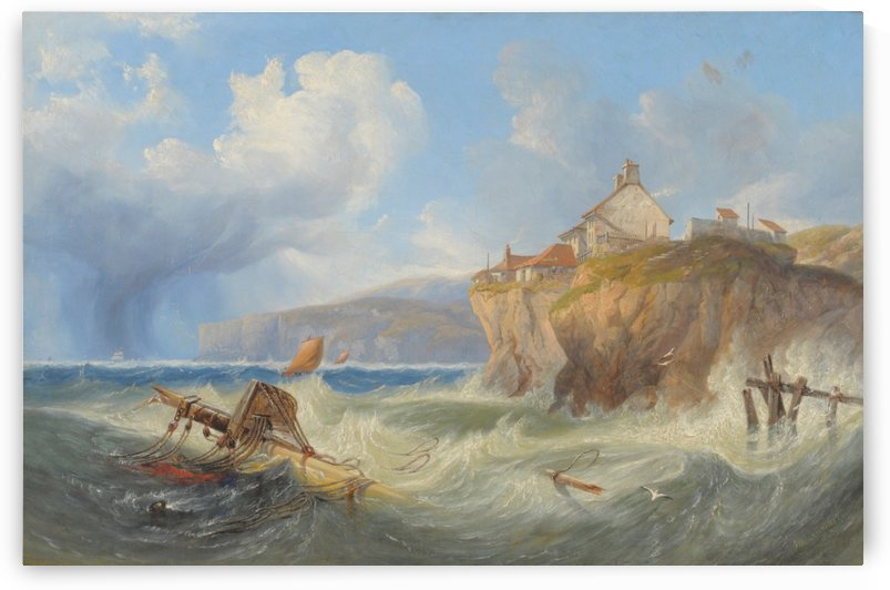 Landscape with a house by the sea by John Wilson Carmichael