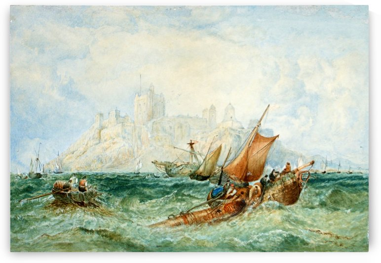 Struggling in Rough Sea by John Wilson Carmichael