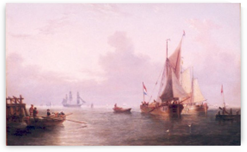 Shipping off a Dutch Port by John Wilson Carmichael