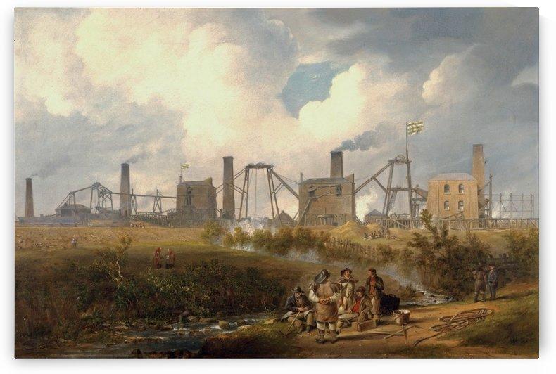 Workers near the factory by John Wilson Carmichael