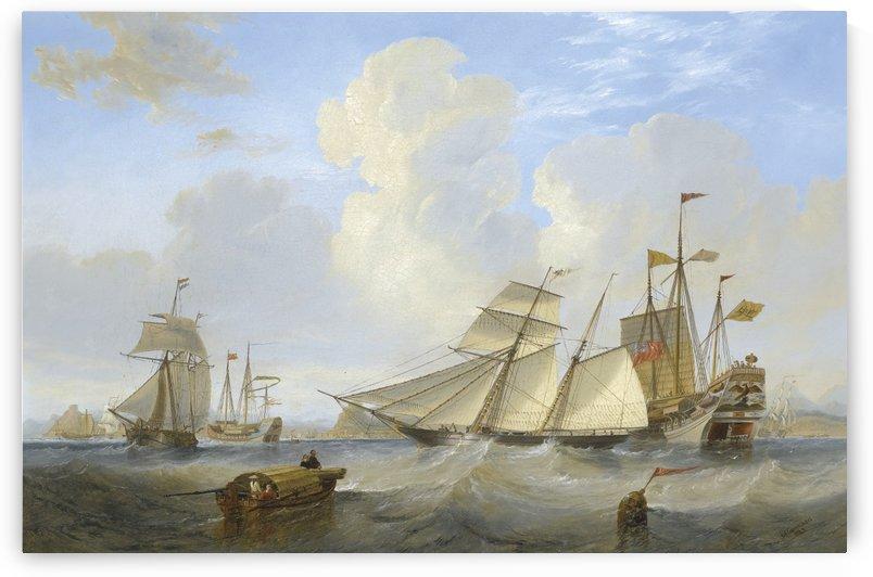 Lots of boats by the sea by John Wilson Carmichael