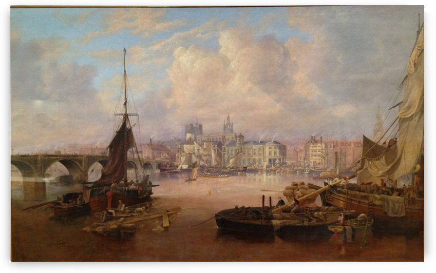 The Mayors Barge on The Tyne by John Wilson Carmichael