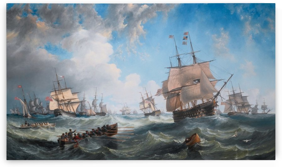 The Channel fleet in heavy weather by John Wilson Carmichael