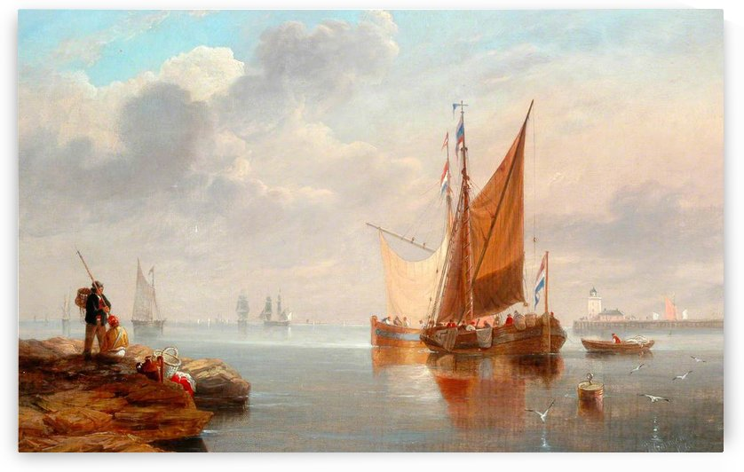 Dutch Fishing Boats by John Wilson Carmichael