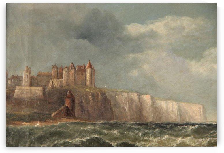 A castle on a clif by John Wilson Carmichael